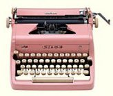 * The pink type writer is logo for the blog