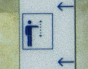 * Icon for elevators at the British Museum in London